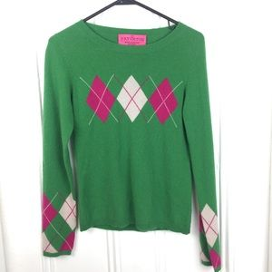 Vintage Juicy Couture 100% cashmere argyle sweater